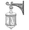 antique lantern contour vector image