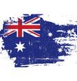 australian scratched flag vector image vector image