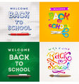 back to school set backgrounds vector image vector image