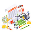 bank loan contract composition vector image