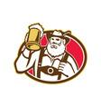 Bavarian Beer Drinker Mug Retro vector image vector image