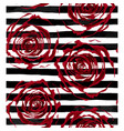 beautiful seamless pattern outline of red roses on vector image