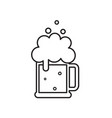 beer mug with foam black beer icon vector image vector image