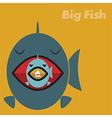 Big fish eating a small fish concept vector image vector image