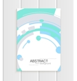 brochure in abstract style with turquoise vector image vector image