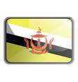 brunei flag on white background vector image