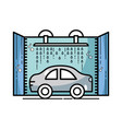 car service washing mechanical technology vector image