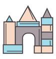 castle made wooden bricks children toy vector image vector image