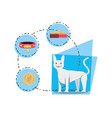 cat wirh can food vector image