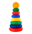 children s toy multicolored pyramid on white vector image