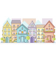 cityscape of old europe street in flat style view vector image