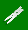 clothes peg sign paper whitish icon with vector image vector image