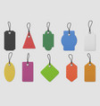 color paper price tag labels realistic colored vector image vector image