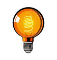 colored incandescent light bulb sketch vector image vector image