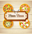 colorful italian food concept vector image vector image