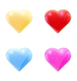 colorful set glass hearts vector image