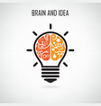 Creative light bulb and brain symbol