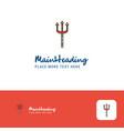 creative trident logo design flat color logo vector image