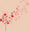 dandelions hearts and music valentines romantic vector image vector image