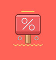 discount icon set of great flat icons use for vector image vector image
