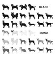 dog breeds black icons in set collection for vector image vector image