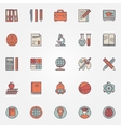 Education colorful icons vector image