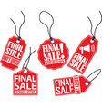 Final sale red tag set vector image vector image