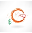 financial schedule grunge icon vector image vector image