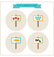 Flat Garden Signs Website Icons Set vector image vector image