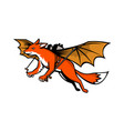 flying fox with mechanical wings mascot vector image vector image