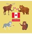 forest animals canada icon cartoon design