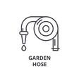 garden hose line icon outline sign linear symbol vector image vector image