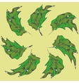Green leaves of the trees vector image