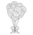 Group of balloons on a string coloring for vector image vector image
