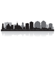 Halifax Canada city skyline silhouette vector image vector image