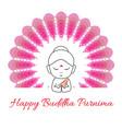 happy buddha purnima vector image