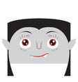 happy halloween cartoon vampire avatar vector image