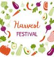 harvest festival bright banner modern design vector image