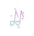 heart love music icon design vector image vector image