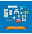 Internet of Things concept in vector image vector image