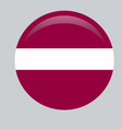 latvia flag official colors and proportion vector image