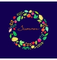lettering in the frame of Summer berries leaves vector image vector image