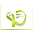 lime green ribbon for world lymphoma day isolated vector image vector image