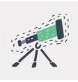 line telescope icon vector image vector image