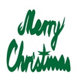 Merry christmas ribbon1 resize vector image vector image