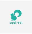 minimalist squirrel and nuts logo icon vector image