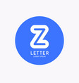 modern linear logo and sign letter z vector image vector image