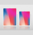 new tablet pro x isolated vector image vector image