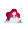 online education self learning concept vector image vector image