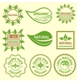Organic products emblem quality mark logo vector image